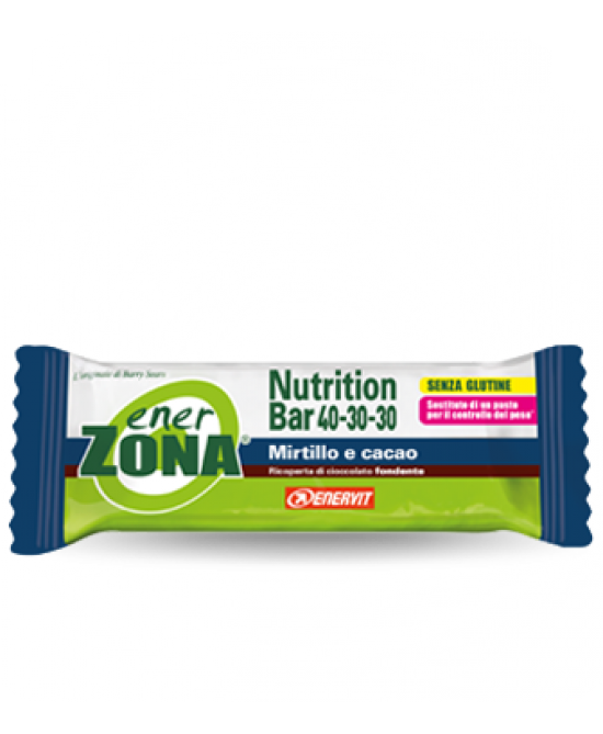 Enervit EnerZona Nutrition Bar 40-30-30 Mirtillo Cacao 1 Barretta 53g - Zfarmacia