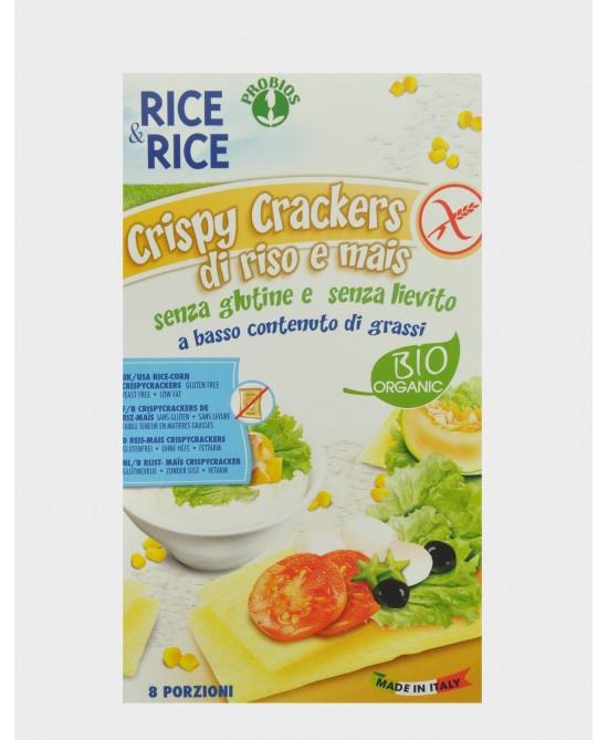 Rice&Rice Crispy Crackers Riso Senza Glutine Senza Lievito 160g - FARMAEMPORIO