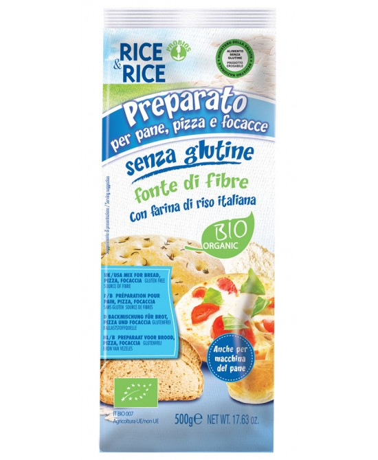 Rice&Rice Preparato Per Pane Pizza E Focacce Senza Glutine 500g - FARMAEMPORIO