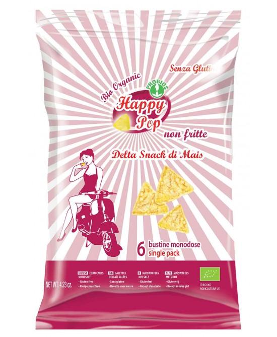 Happy Pop Delta Snack Di Mais Senza Glutine 120g - FARMAEMPORIO