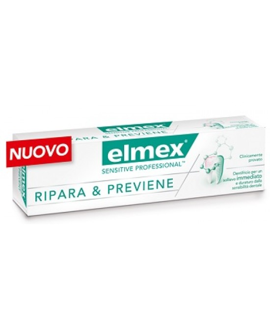 Elmex Sensitive Professional Ripara & Previene Dentifricio 75ml - Farmastar.it