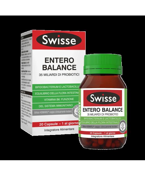 Swisse Entero Balance 36 Miliardi Di Probiotici Integratore Alimentare 20 Compresse - La tua farmacia online