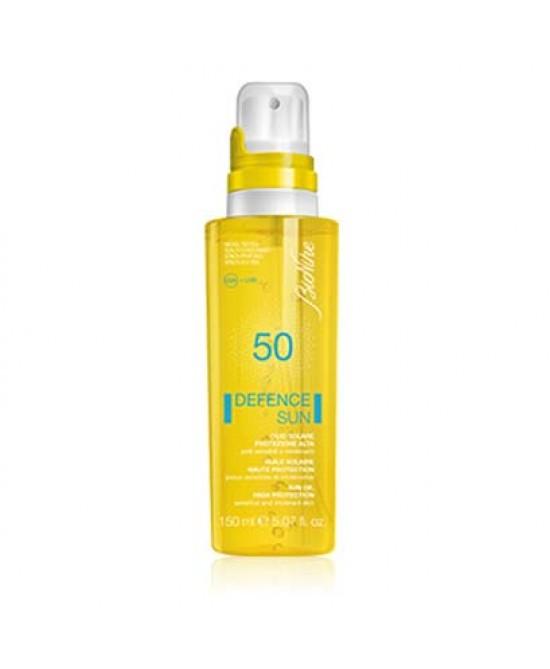 BioNike Defence Sun Olio Solare SPF 50 Protezione Molto Alta 150ml - Farmabravo.it