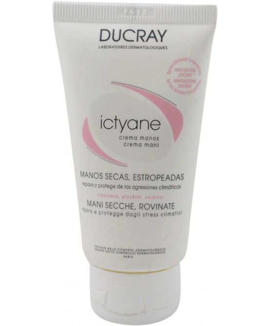 Ducray Ictyane Crema Mani Idratante Rigenerante 50 ml - La tua farmacia online