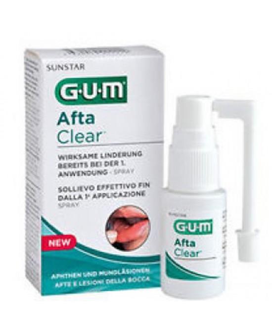 Sunstar Gum Aftaclear Spray Trattamento Afte E Lesioni Della Bocca Flacone 15ml - FARMAEMPORIO