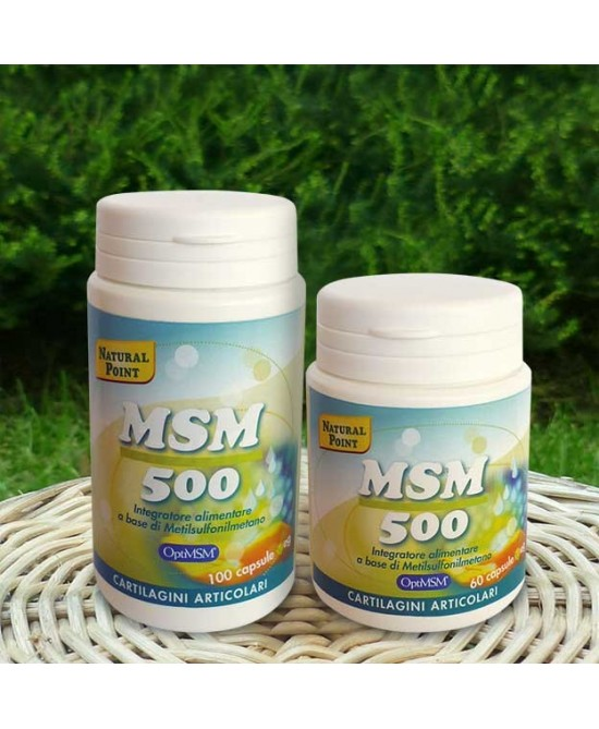 Natural Point MSM 500 Integratore Alimentare 60 Capsule Vegetali - Farmacia 33