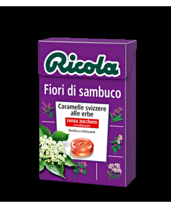 Ricola Fiori Sambuco Caramelle Senza Zucchero 50g - FARMAEMPORIO
