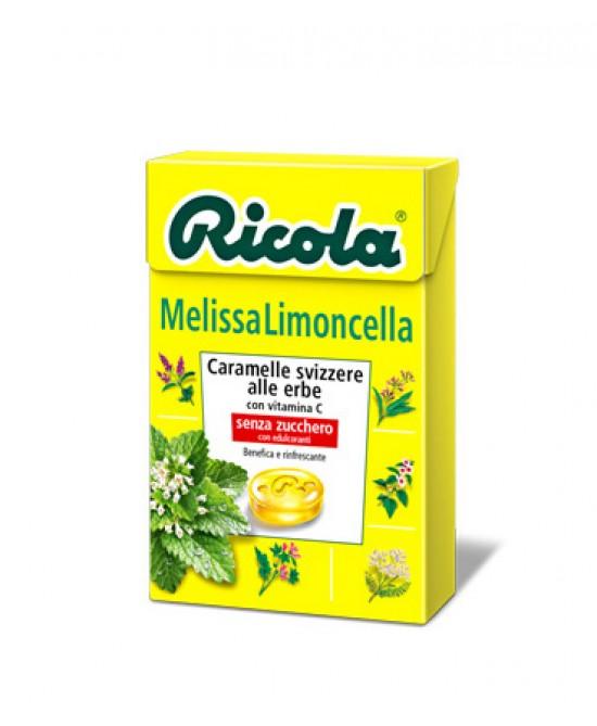 Ricola Melissa Limoncella Caramelle Svizzere Alle Erbe Senza Zucchero Con Vitamina C 50g - FARMAEMPORIO