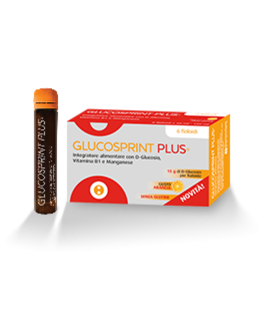 Glucosprint Plus Arancia Integratore Alimentare 6 Fiale - Zfarmacia