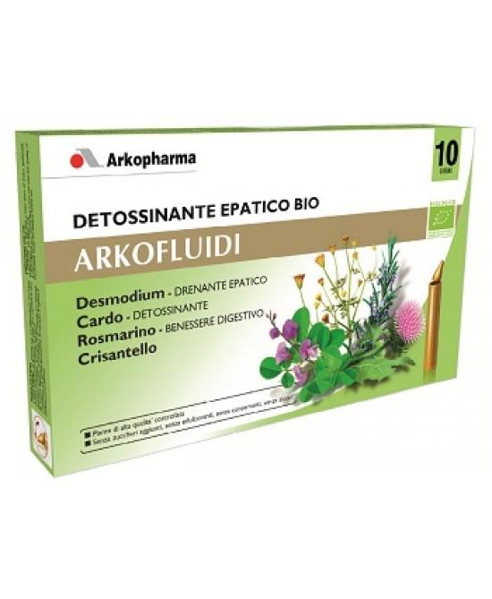 Arkofluidi Detossinante Epatico Integratore Alimentare 10 Fiale Monodose - Farmalandia