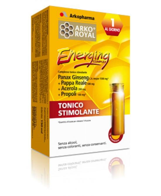 ArkoRoyal Energing Complex Integratore Alimentare 10 Flaconcini Monodose - Farmalandia