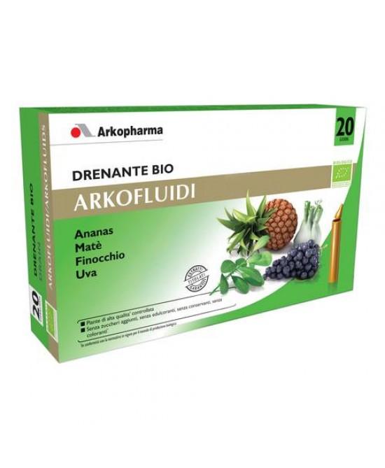 Arkofluidi Drenante Bio Integratore Alimentare 20 Flaconi Monodose - Zfarmacia