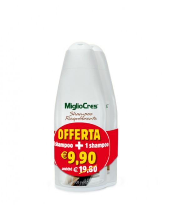 MiglioCres Linea Capelli Classica Shampoo Riequiloibrante 2x200ml - FARMAPRIME
