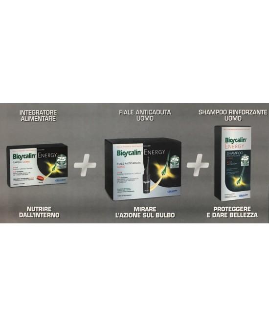 Bioscalin SISTEMA ENERGY compresse + fiale + shampoo - La tua farmacia online