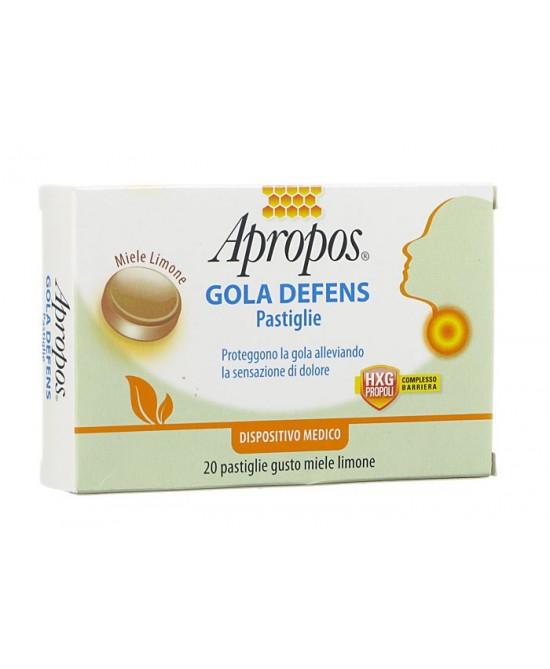 Apropos Gola Defens Pastiglie  Miele Limone 20 Pastiglie - Farmalandia