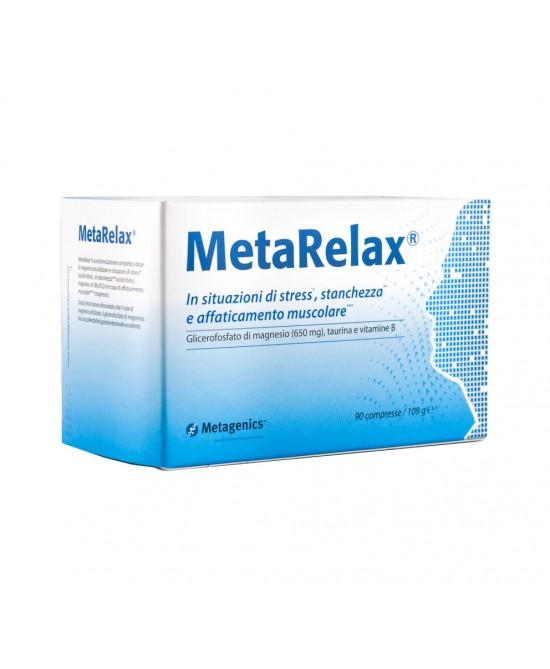 Metagenics MetaRelax Nuova Formula Integratore Alimentare 90 Compresse - Farmacia 33