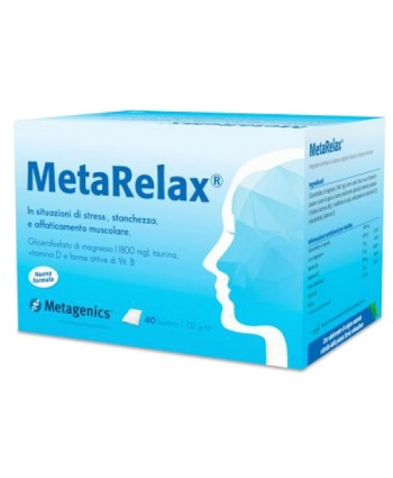 Metagenics Metarelax New Integratore Alimentare 40 Bustine - Farmacia 33
