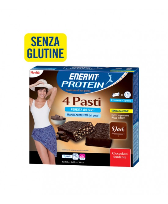 Enervit Protein 4 Pasti Gusto Dark Senza Glutine 8x30g - FARMAEMPORIO