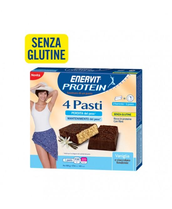 Enervit Protein 4 Pasti Gusto Vaniglia Senza Glutine 8x27g - FARMAEMPORIO
