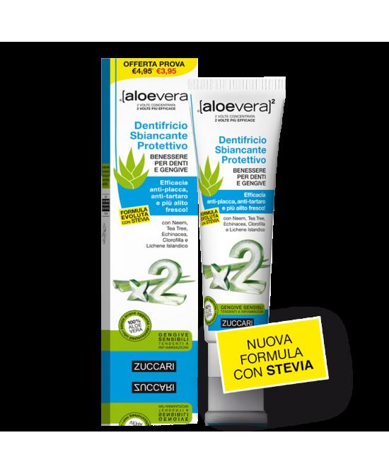 Zuccari Aloevera2 Dentifricio Sbiancante Protettivo Con Stevia 100ml - Farmastar.it
