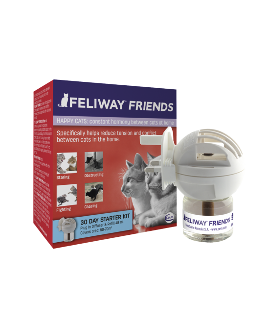 Ceva Feliway Friends Diffusore Con Ricarica 48ml - Farmastar.it