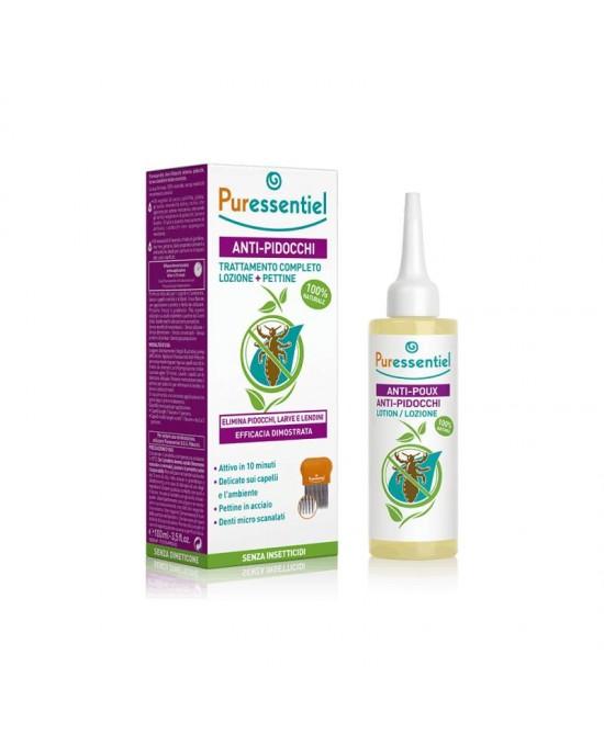 Puressential Anti-Pidocchi Trattamento Pidocchi Completo Spray+Lozione+Pettine+Cuffia - Farmacia 33