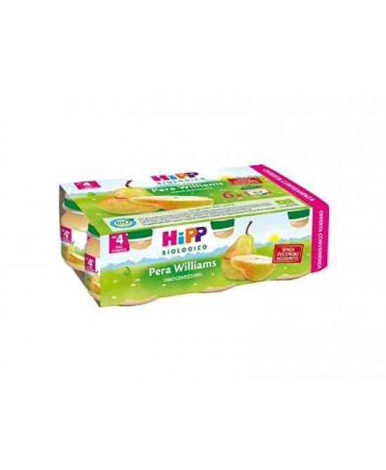 Hipp Omogeneizzato Pera Williams Multipack 6x80g - Farmajoy