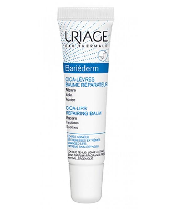 Uriage Bariéderm Cica-Lèvres Balsamo Labbra Isolante Screpolante 15ml - Farmamille