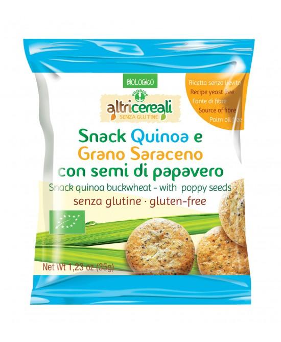 Altri Cereali Snack Quinoa E Grano Saraceno Con Semi Di Papavero Senza Glutine 35g - FARMAEMPORIO