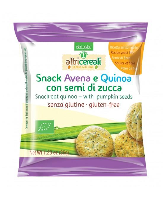 Altri Cereali Snack AvenaE Quinoa Con Semi Di Zucca Senza Glutine 35g - FARMAEMPORIO