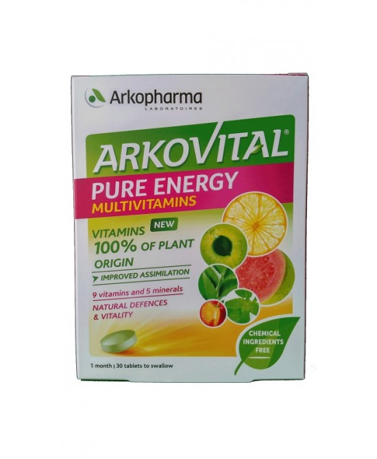 ArkoPharma Arkovital Pure Energy Multivitamins Integratore Alimentare 30 Compresse - La tua farmacia online