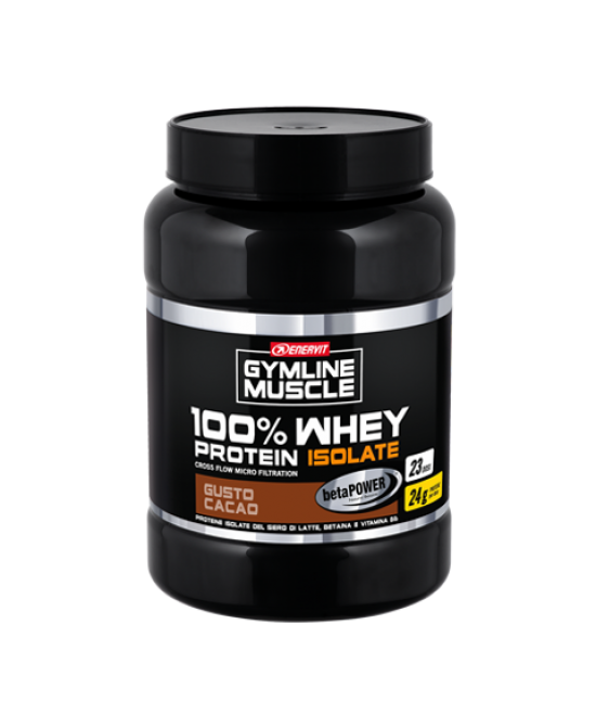 Enervit Gymline Muscle 100% Whey Protein Isolate + Betaina Gusto Cacao Integratore Alimentare 700g - Farmastar.it