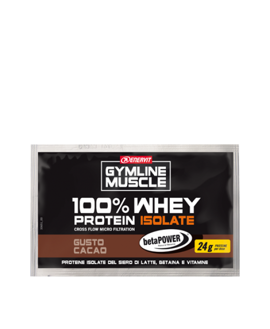 Enervit Gymline Muscle 100% Whey Protein Isolate + Betaina Gusto Cacao Integratore Alimentare Bustina 24g - Farmacia 33