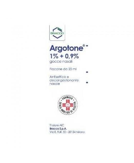 Argotone 1% + 0.9%  Gocce Nasali 20ml - FARMAEMPORIO