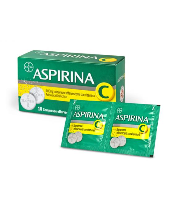 Aspirina C 400 mg + 240 mg Compresse Effervescenti con Vitamina C 10 Compresse - Farmalilla