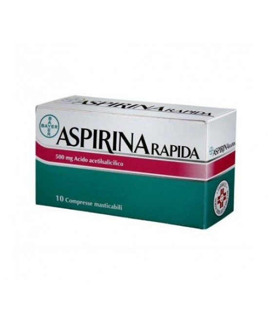 Aspirina Rapida 500mg 10 Compresse Masticabili - Farmacia 33
