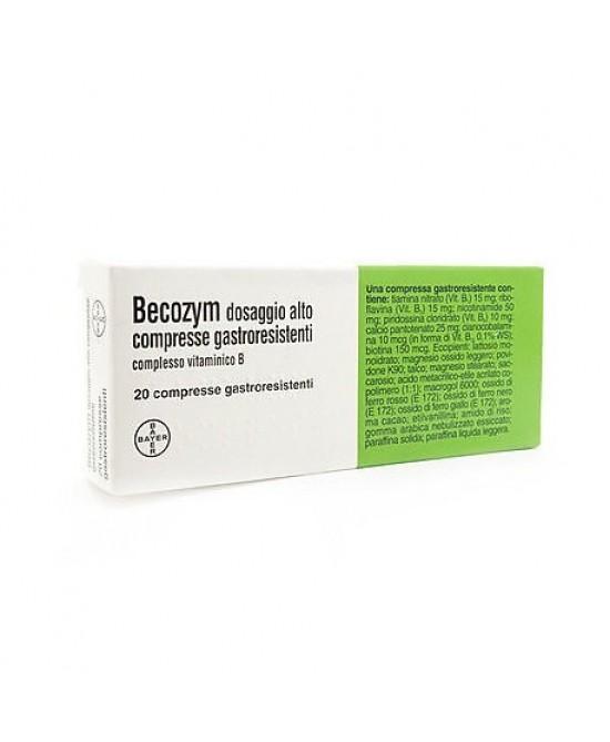 Becozym Dosaggio Alto 20 Compresse Gastroresistenti - FARMAEMPORIO