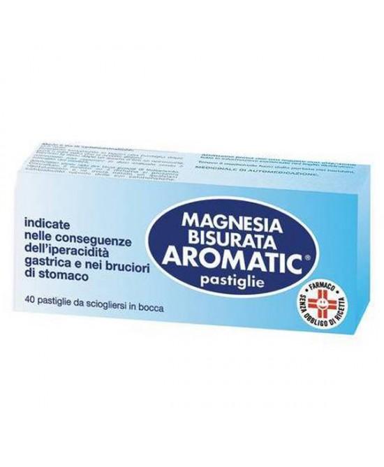 Magnesia Bisurata Aromatic Patologie Digestive 40 Pastiglie - La tua farmacia online