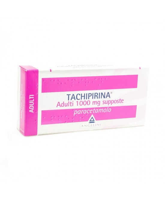 Angelini Tachipirina Adulti 1000mg Supposte Per Febbre E Dolore 10 Supposte - La tua farmacia online