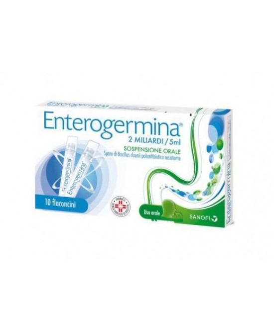Enterogermina 2 Miliardi Sospensione Orale 10 Flaconcini Da 5ml - La tua farmacia online