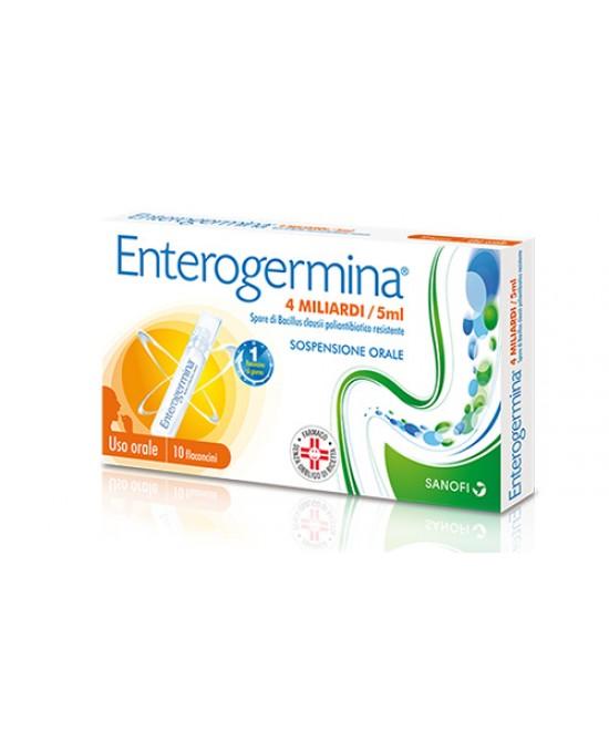 Enterogermina 4 Miliardi Sospensione Orale 10 Flaconcini Da 5ml - Farmawing