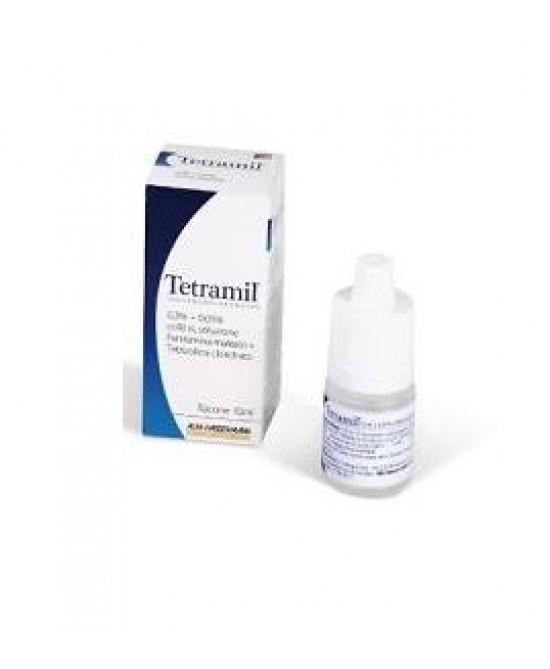 Teofarma Tetramil 0,3%+0,05% Collirio Per Occhi Arrossati Infiammati E Congiuntiviti Allergiche 10ml - FARMAEMPORIO