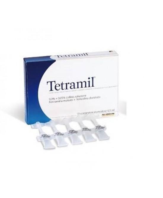 Teofarma Tetramil 0,3%+0,05% Collirio Per Occhi Arrossati Infiammati E Congiuntiviti Allergiche 10 Flaconcini Monodose - Zfarmacia