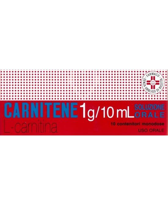 Carnitene 1g L-Carnitina Soluzione Orosolubile 10 Flaconcini - Zfarmacia