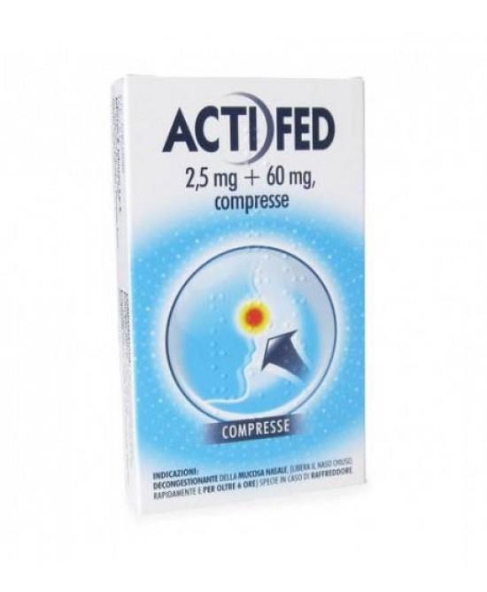 Actifed 2,5mg+60mg Decongestionante Della Mucosa Nasale 12 Compresse - Farmacia 33