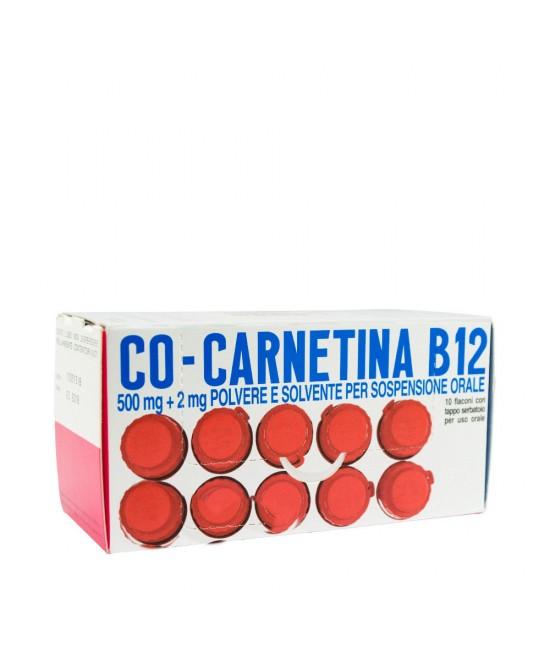 Co-Carnetina B12 500mg + 2mg Soluzione Orosolubile 10 Flaconcini 10ml - FARMAEMPORIO
