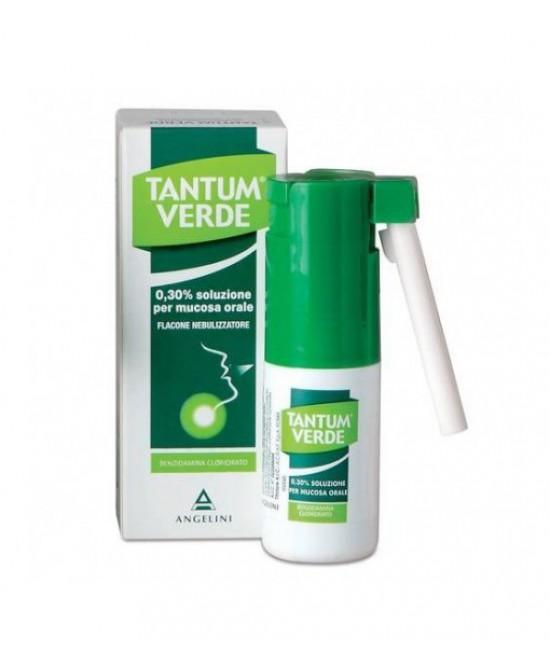 Angelini Tantum Verde 0,3% Nebulizzatore Per  Mal Di Gola E Irritazioni Della Bocca Spray 15ml - La tua farmacia online