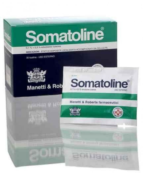 Somatoline 0,1% + 0,3% Emulsione Cutanea 30 Bustine - Farmacia 33
