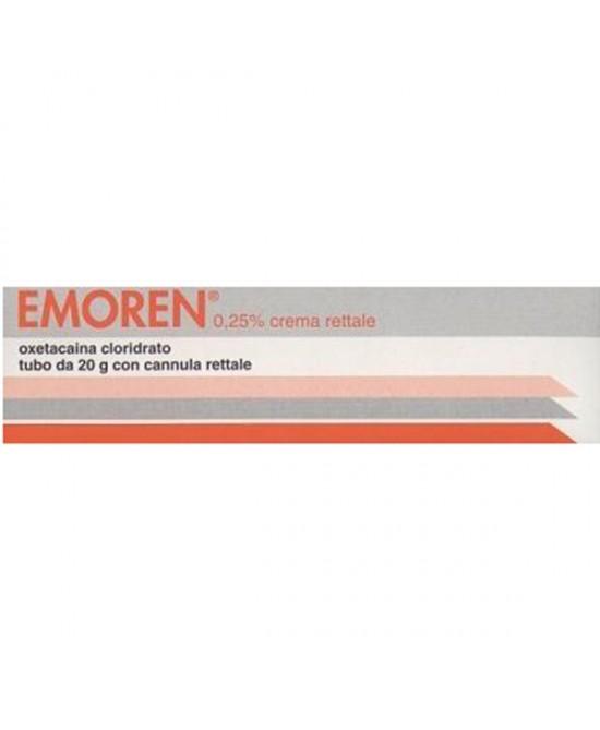 Centrofarma Emoren 0,25% Crema Rettale Trattamento Sintomatico Emorroidi Tubo 20g - La tua farmacia online