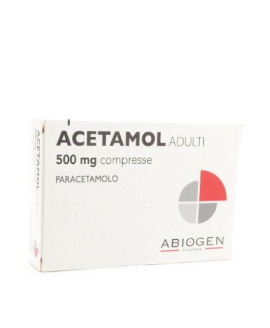 Acetamol  500mg  20 Compresse - FARMAEMPORIO
